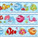 Bathroom and Window stickers, Plastic, Assorted colours, 56cm x 21cm, 1 sheet, (JDC534)